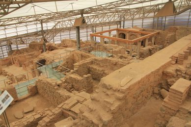 This is only a small part of the site of the terrace houses