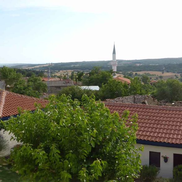 View of the village of Kocadere from the hotel