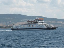 The car ferry - we learned the Turkish for Ferry is Feribot.