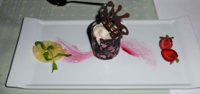 Superb ice-cream beautifully presented.