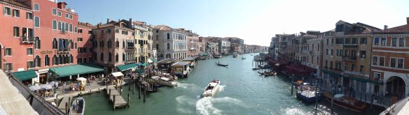 The view from the Rialto Bridge. Still stunning.