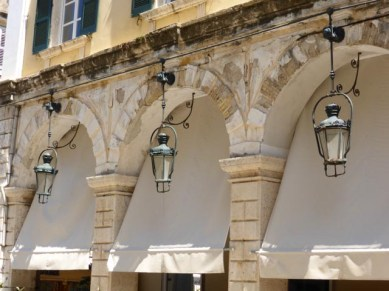 Typical Corfu architecture - on the Liston