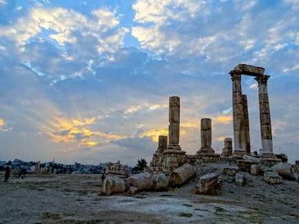 The Citadel - Roman ruins & a nice evening sky