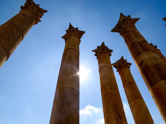Jerash - evocative columns