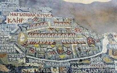 Madaba - mosaics - the famous 6th century map of Jerusalem