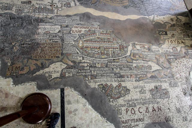 Madaba - the famous 6th century mosaic map of the Holy Land