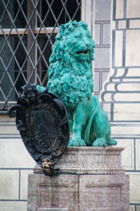 Lion guarding the entrance to the Residenz