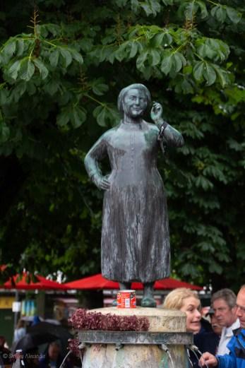 Statue of Liesl Karlstadt a German actress and cabaret performer.