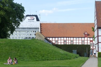 Behind Ålborg Castle - a half-timbered castle built in 1539