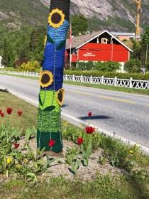 Eidfordian yarn-bombing