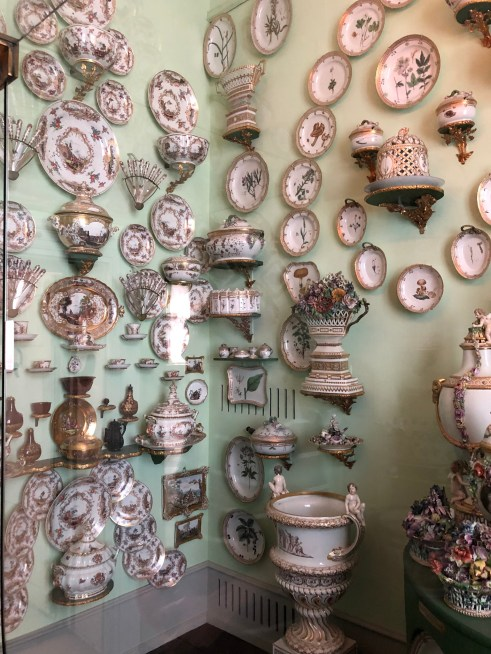 Part of the huge porcelain collection on display