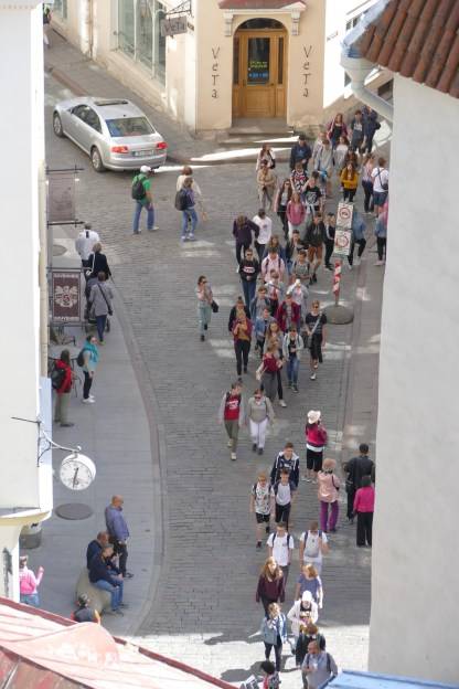There were more tour groups in Tallinn than we have seen previously on this trip