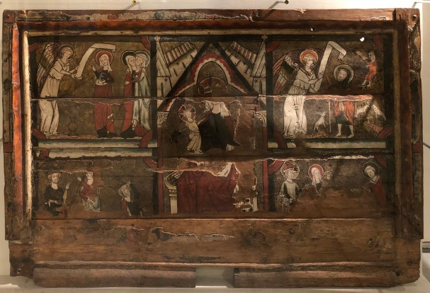 A medieval church wall panel