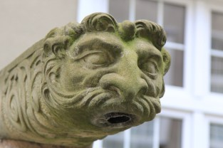 """The decorative stone drainpipes are called """"puckers""""."""