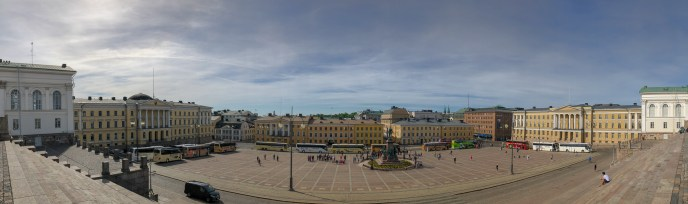 Panorama of Senate Square from the Cathedral