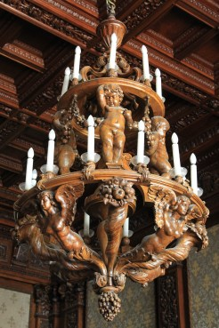 An oak chandelier!