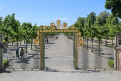 The entrance to the royal gardens