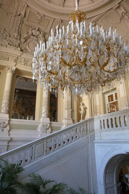Grand entrance staircase decorated in 1830 in Palladian style