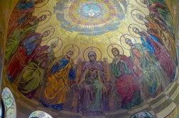 Mosaic on the ceiling.
