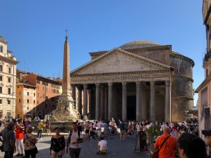 We had planned to visit the Pantheon once our son arrives, but you can't just walk past without a photo, especially on such a sunny day.