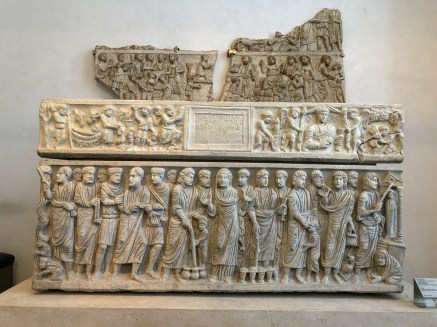 Carvings on the front of this sarcophagus show various New Testament scenes, in incredible detail.