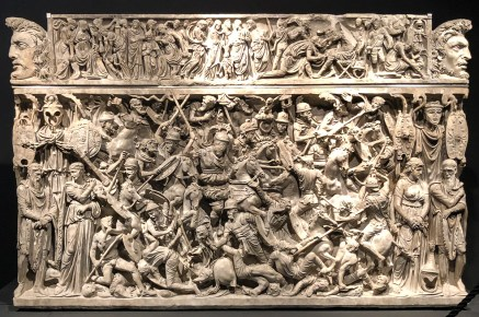 This sarcophagus was used for the burial of a Roman general involved in the campaigns of Marcus Aurelius, and the detail in the carving is breath-taking.