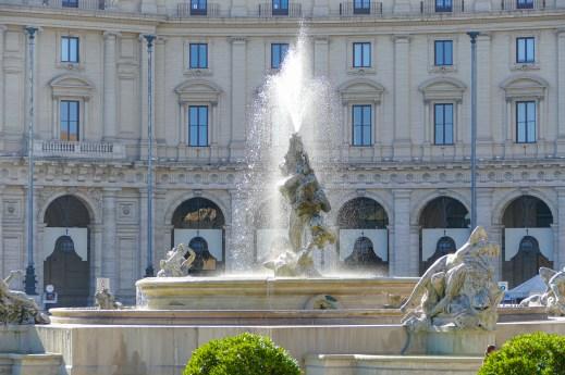 Fountain in the Piazza Della Republica
