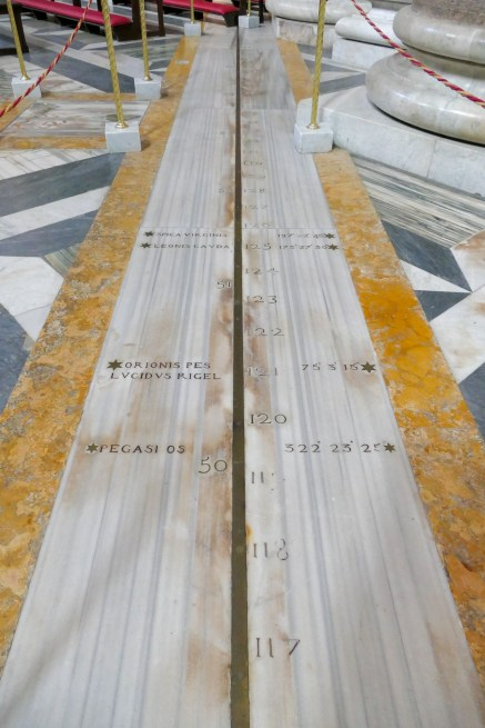 Santa Maria degli Angeli - the Meridian Line of Pope Clement XI