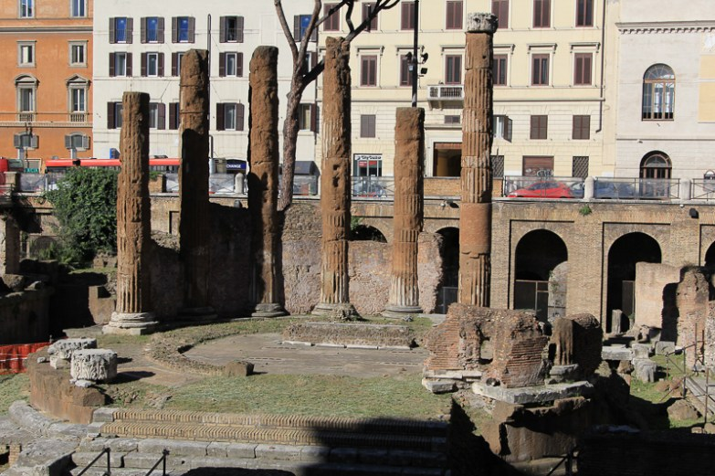 """Ruins of a temple dedicated to """"Fortuna huiusce diei"""" - The Luck of the Day!"""