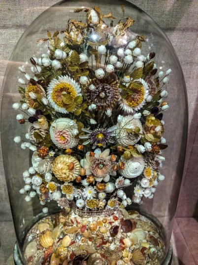 Not a floral display - it is entirely made of shells! There's a whole room of these too.