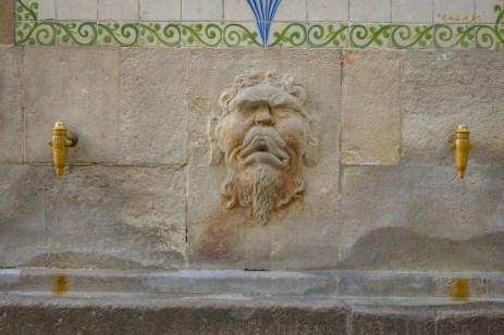 Fountain detail.