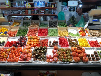 Santa Caterina Market. So many different kinds of tomatoes.