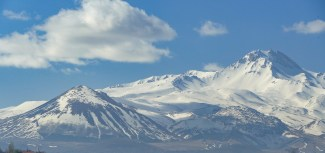 snow-covered Mt Erciyes