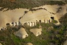 Cave dwellings in the valley
