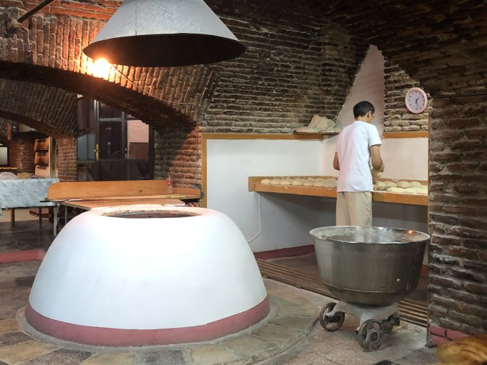 The big white thing is the traditional oven