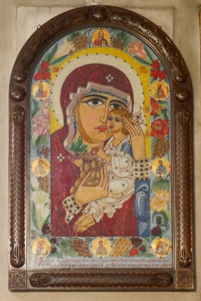 Kvashveti Church - unusual beaded icon