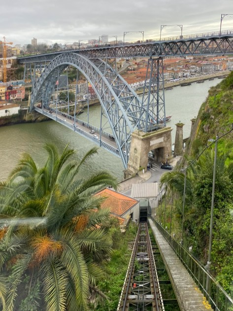 Great view of the bridge from the funicular