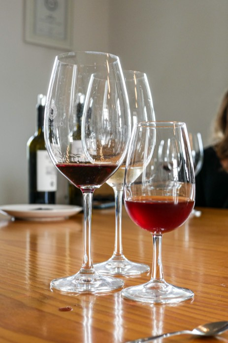 We tasted a red, a white and a port.