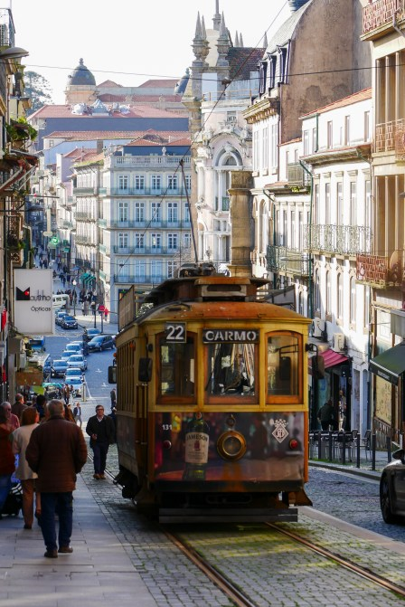 Vintage trams carry tourists and locals alike.