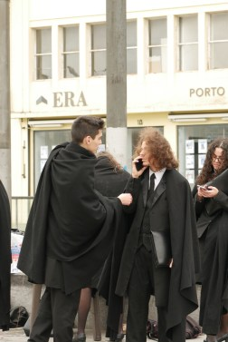 Students in Portugal proudly wear black capes as a uniform. Did they inspire the Hogwarts cloaks?