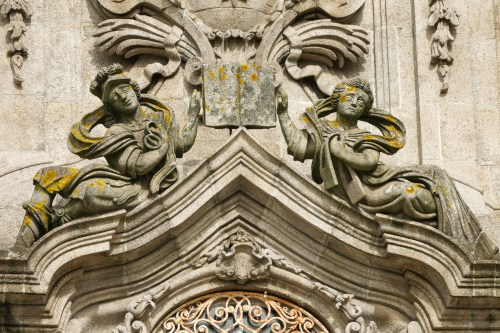 On the facade of the Carmo church. Don't you love the expressions on the angels' faces?