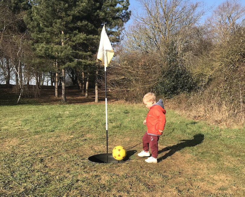 Footgolf with toddlers