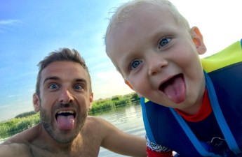 Wild swimming with kids