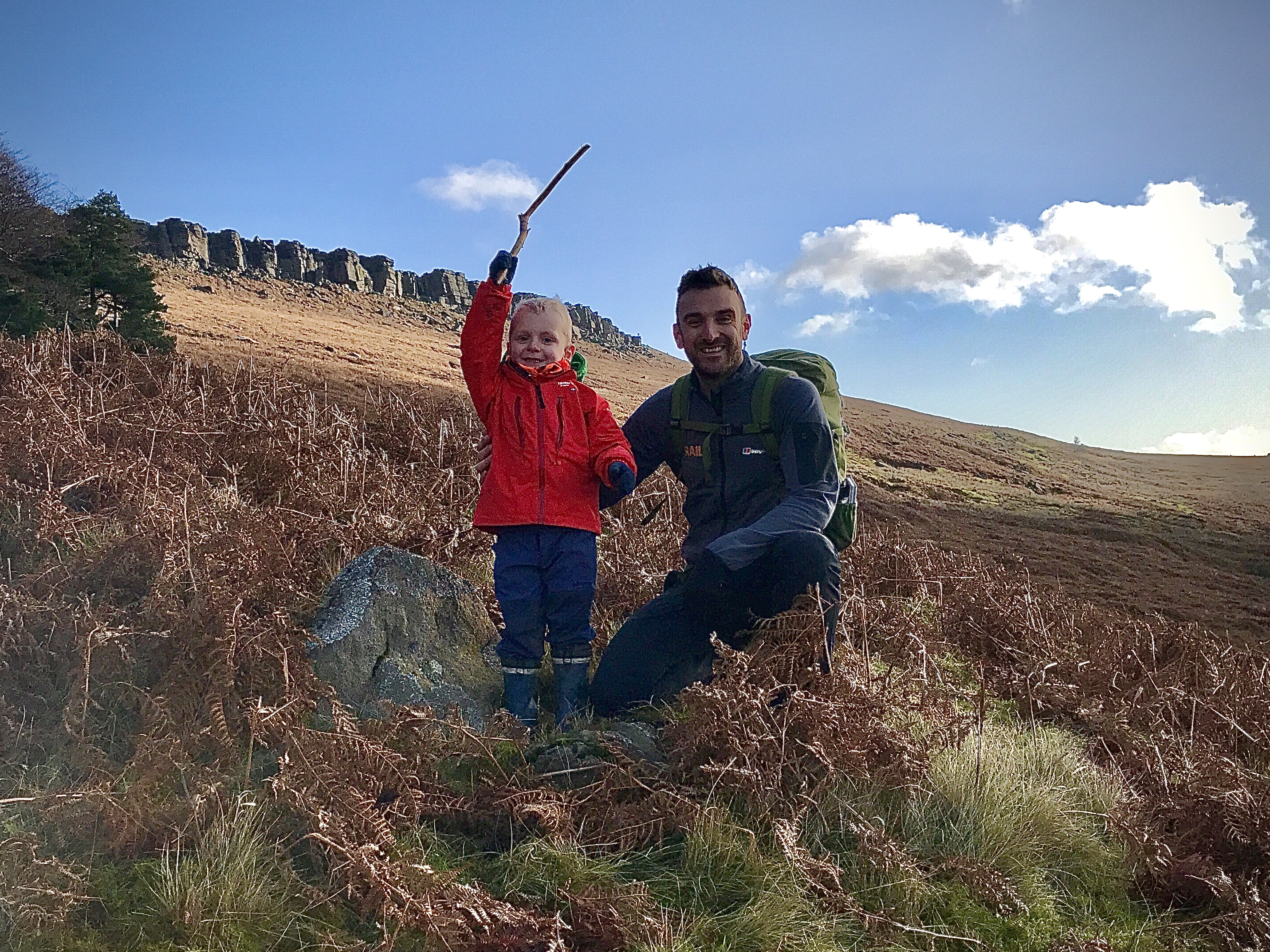 Family walk, Stanage Edge