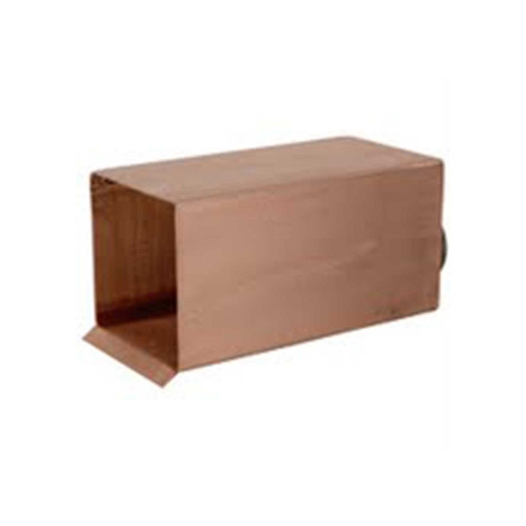Box Scupper - Raw Copper Scupper