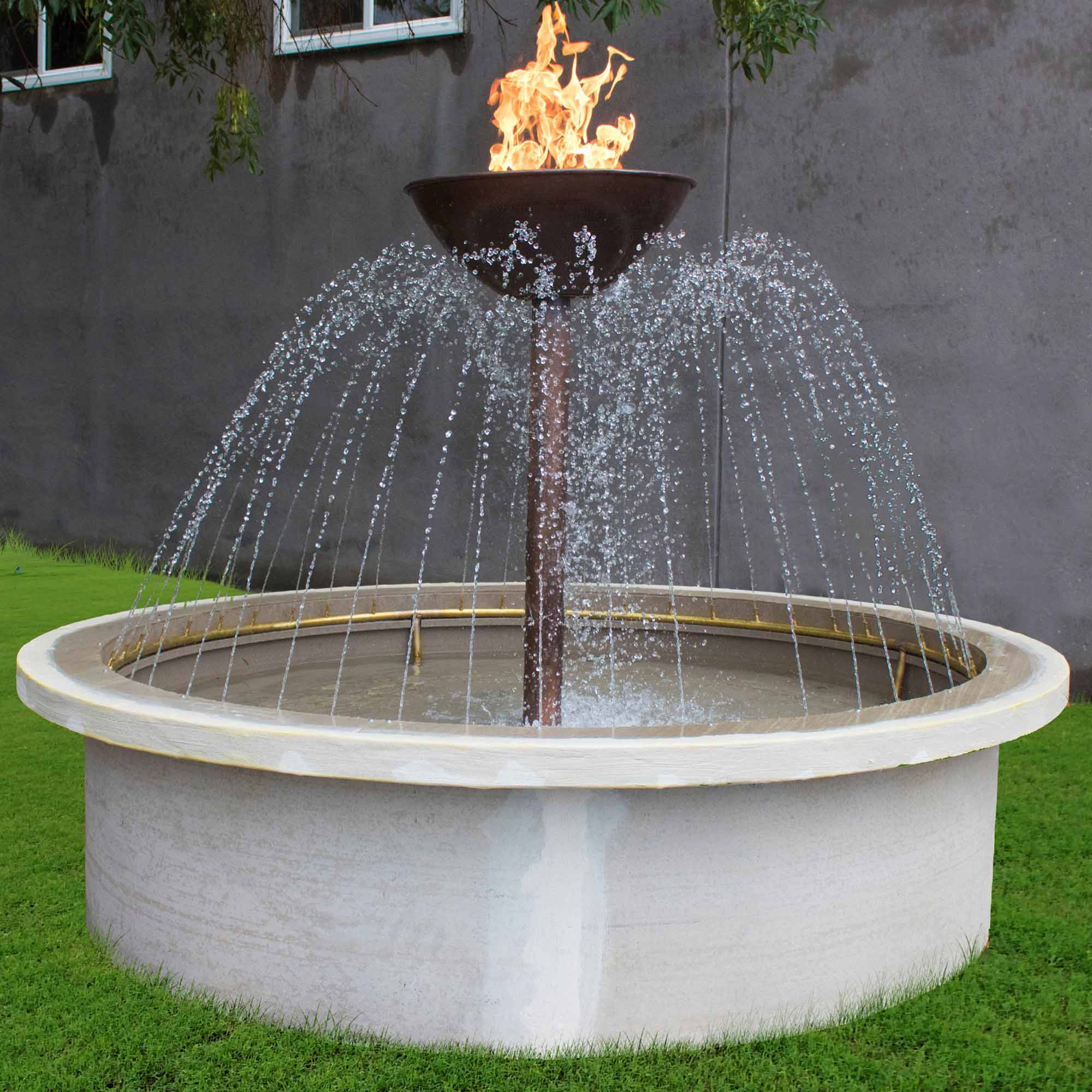 Osiris Self-Contained Fire Water Feature