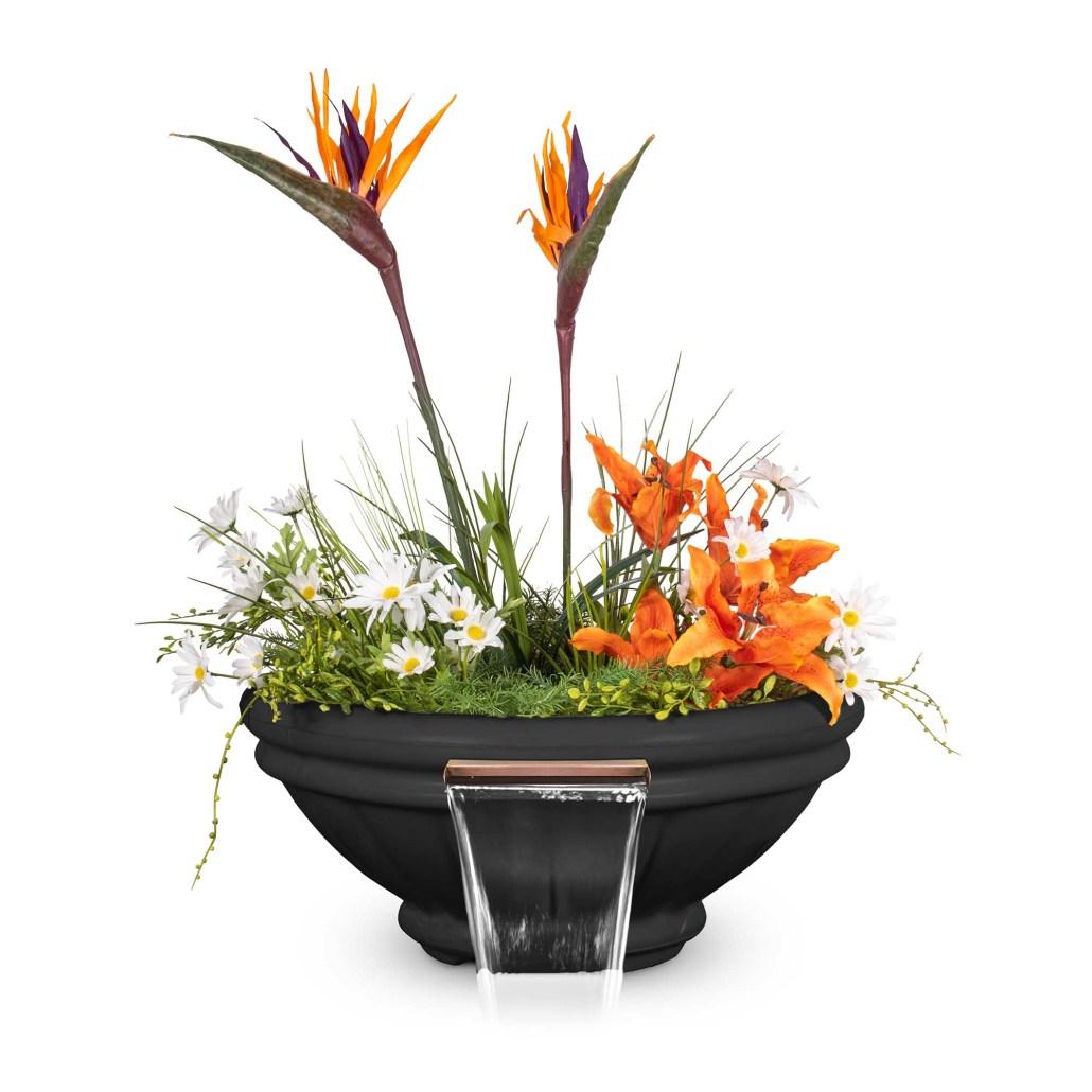 Roma GFRC Planter Water Bowl - Black