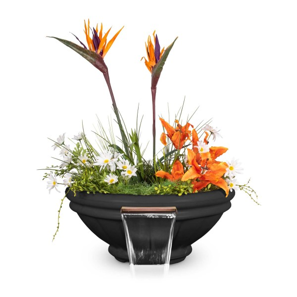 Roma GFRC Planter Water Bowl - Black