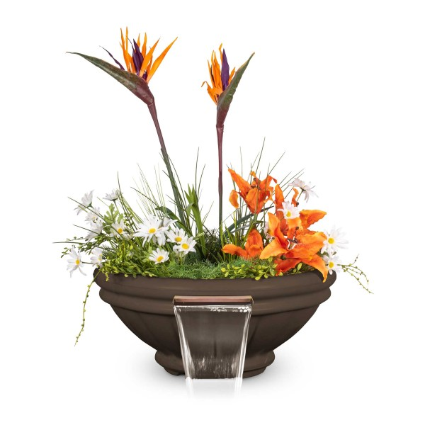 Roma GFRC Planter Water Bowl - Chocolate