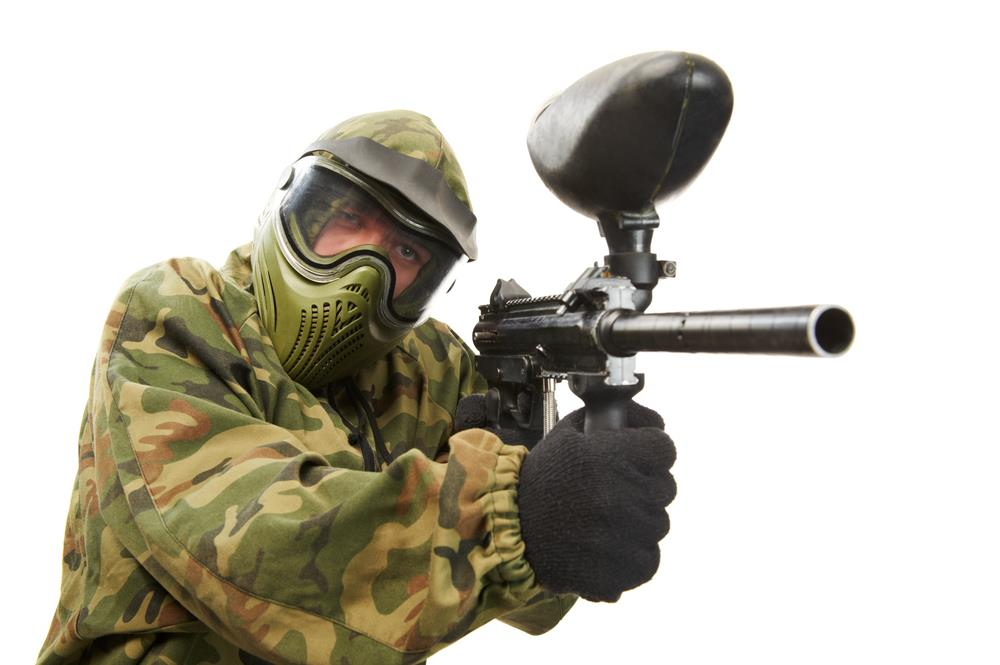 Wear the Paintball Mask